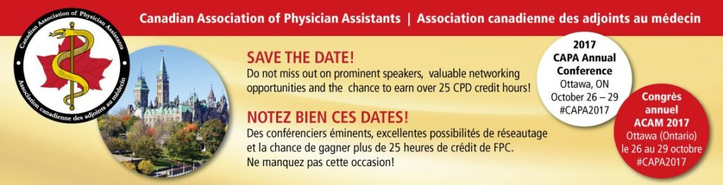 The Canadian Association of Physician Assistants - CAPA Annual Conference