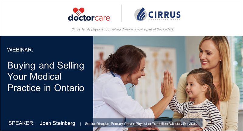 Buying and Selling Your Medical Practice in Ontario