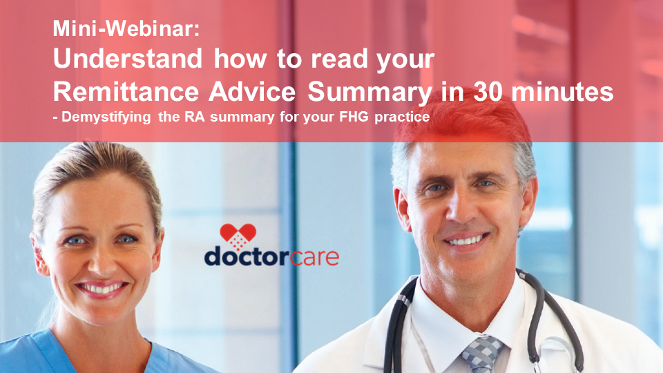 FHG Webinar-How to Read your RA Summary