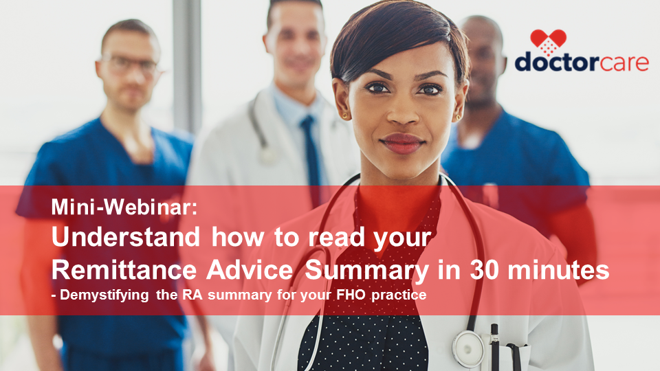 FHO Webinar-How to Read your RA Summary